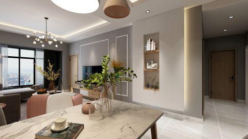 遵义保利未来城市120㎡现代简约风装修,简直是三居室模范了
