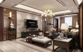 西安大户型三居室唯美中式装修案例