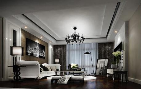 昆明现代简约风格三居室装修效果图