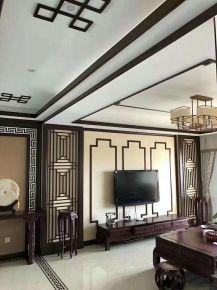 烟台中式风格三居室装修效果图