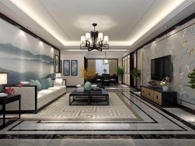 南京新中式风格别墅装修效果图