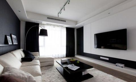 西安现代风格三居室装修效果图