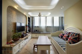 西安106平小三室清新地中海装修效果图