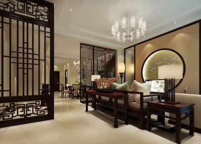 西安华新中式风格四居室装修效果图