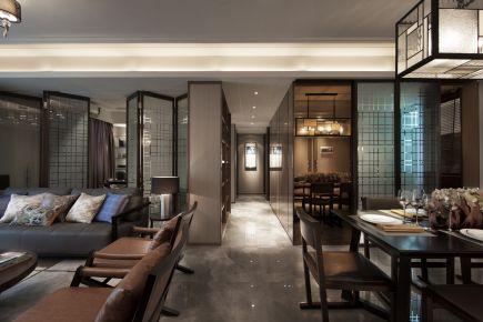 西安中式风格三居室装修效果图