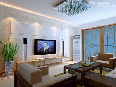 杭州现代风格三居室装修效果图