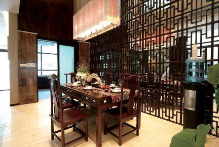 西安大三室奢华中式风格装修效果图
