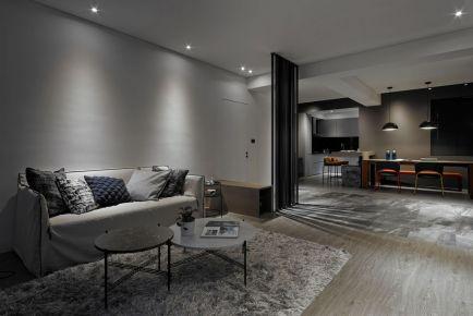 西安现代工业风三居室装修效果图