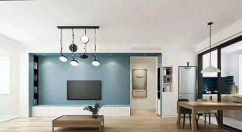 南京现代风格两居室装修效果图
