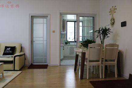 杭州现代简约110平三居室装修效果图