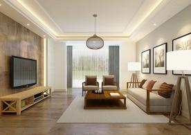 昆明日式风格三居室装修效果图