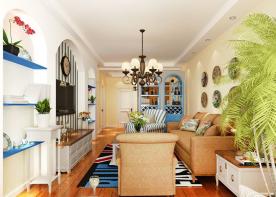 昆明地中海风格两居室装修效果图