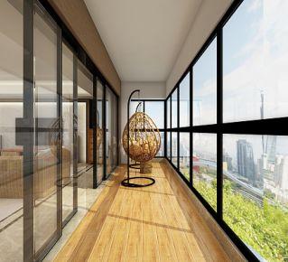 泰州现代风格三居室装修效果图