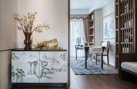 廊坊中式风格三居室装修效果图