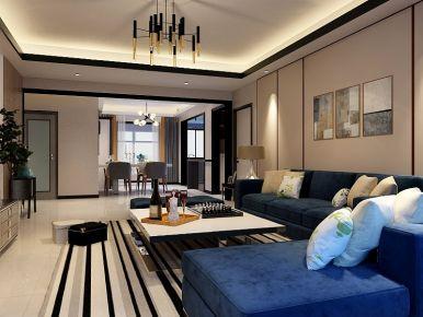 保定现代风格三居室装修效果图