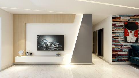 昆明混搭风格三居室装修效果图