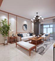 保定日式风格三居室装修效果图