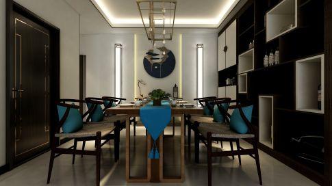 昆明中式风格三居室装修效果图