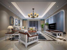 重庆三居室地中海风格装修效果图