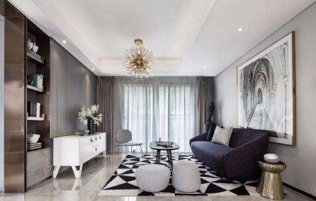 重庆107平的现代简约三居室装修案例