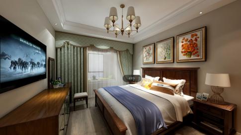 北京欧式风格两居室装修效果图