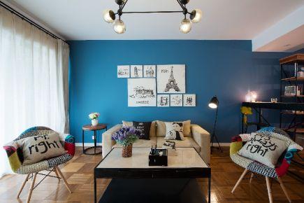 六安北欧简约风格三居室装修案例