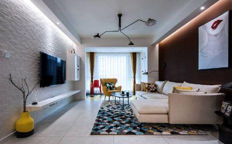 重庆100㎡三居室北欧风格婚房装修设计