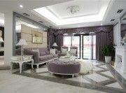 淮安欧式风格110平米三居室客厅吊顶装修效果图