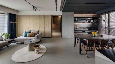 重庆65㎡现代简约两居室装修效果图