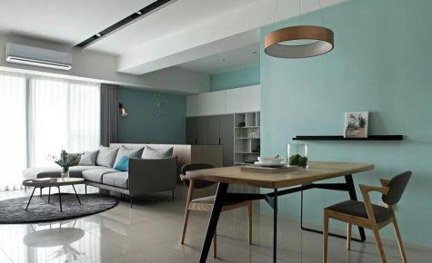 重庆绿地两江御园125㎡现代简约三居室装修效果图