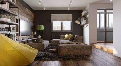 重庆79㎡混搭工业风格三居室装修效果图