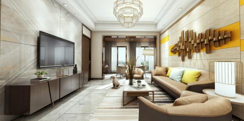 重庆现代轻奢四居室装修效果图