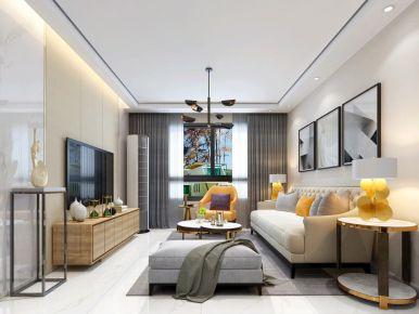 昆明简约风格两居室装修效果图