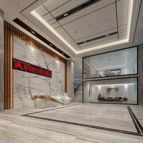 厦门现代风格办公室装修效果图
