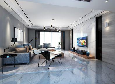 厦门现代简约三居室装修效果图
