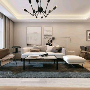 昆明轻奢风格三居室装修效果图