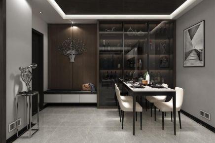 成都89㎡现代三居室装修效果图