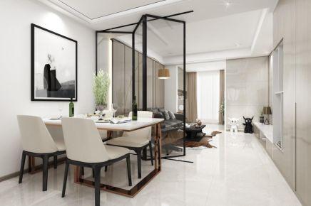 成都91㎡现代三居室装修效果图