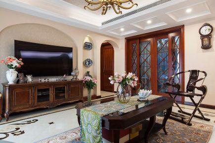 中山金华花园现代美式风格三居室装修,收纳能力超强!