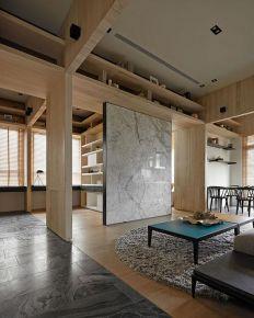 中山大信新家园2期125平方日式装修风格,清新三居室