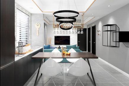 成都隆鑫印象97㎡现代简约三居室装修效果图