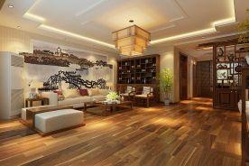 哈尔滨翠湖天地中式三居室装修案例