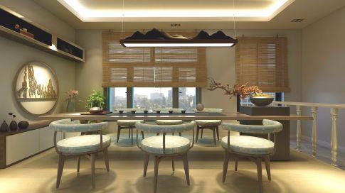 大连现代风格三居室装修效果图