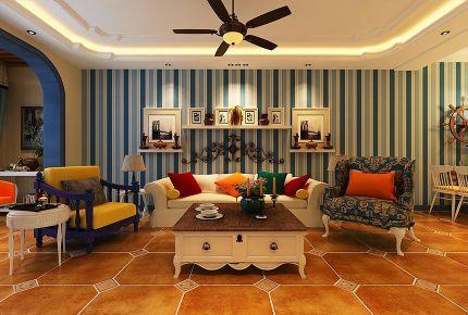 哈尔滨地中海三居室装修效果图