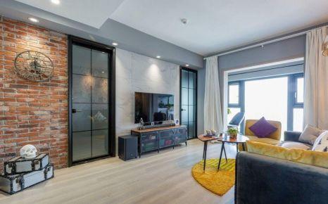 重庆89㎡现代简约三居室装修效果图