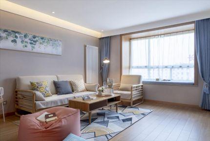西安现代风格两居室装修效果图