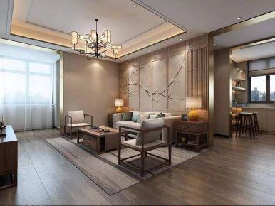 重慶130㎡現代簡約蘭花三居室裝修效果圖