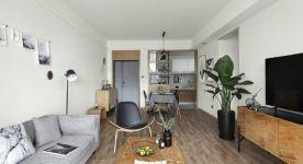 乌鲁木齐现代风格三居室装修效果图