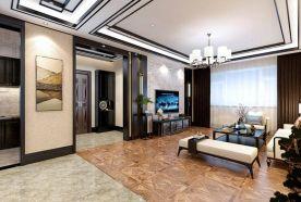 哈尔滨中式风格三居室装修效果图