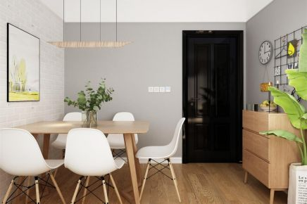成都简约风格两居室装修效果图